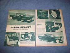 "1955 Chevrolet Bel Air 2-Door Hard-Top Vintage Custom Article ""Black Beauty"""