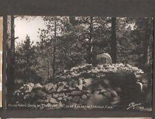 Vtg Postcard Helen Hunt's Grave Cheyenne Mt Colorado Springs CO Colo RPPC