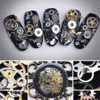 100pcs DIY  Nail Art Transfer Sticker Decal 3D Gear Design Manicure Tips Decor