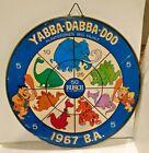 VINTAGE 1967 BUSCH BEER FLINTSTONES DART BOARD FRED BARNEY Anheuser Busch