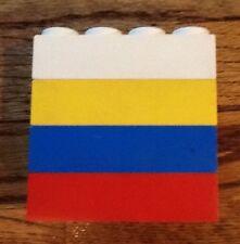"4 VINTAGE Jumbo LEGOS (2"" x 4"" x 1"") from Samsonite, early 1970's"