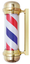 "Barber Pole  28"" Gold Finish Indoor-Outdoor use Yanaki #YA2132"