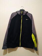 Nike Mens Vintage Retro Hooded Therma Fit Sports Jacket Black Full Zip - XXL