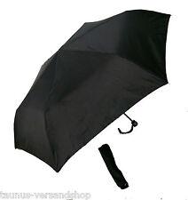 Superleicht Taschenschirm Regenschirm Geringes Packmaß Schwarz NEU