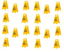 AKTION  20 Stück Warnschild-Vorsicht Rutschgefahr-Vorsicht Glatt TOP Qualität