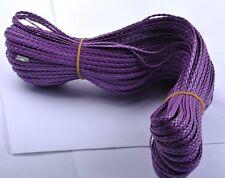 2M purple Man-made Leather Braid Rope Hemp Cord For Necklace Bracelet
