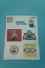 Minions Tattoo 5 Tattoos auf einem Bogen Motiv 2 Neu & OVP DESPICABLE ME MINION