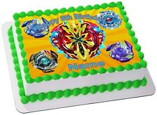 Beyblade Burst REAL EDIBLE ICING  CAKE TOPPER PARTY IMAGE FROSTING SHEET