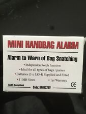 BNIB Mini All Purpose Alarm with Torch for Bags and Personal Safety