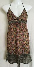 BNWT 100% Cotton H&M Floral Print Tie-Neck / Halterneck Dress Size 10