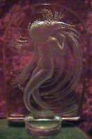 LALIQUE CRYSTAL MERMAID NAIADE WATER NYMPH FIGURINE STATUE FRANCE ETCHED FROSTED
