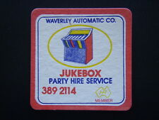 WAVERLEY AUTOMATIC CO JUKEBOX PARTY HIRE SERVICE 3892114 COASTER
