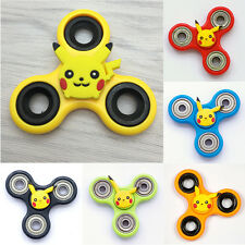 Bikachu Hand Finger Spinner Toy Tri-Spinner Fidget Desk Fucos Relieves Anxiety