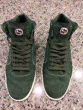 Gucci Men's 10G Sneakers Green Hightop Designer Shoes Sneakers 295322