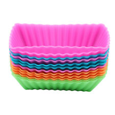 Muffin Cases Cupcake Cup Mold Baking Reusable Cake Mould Tray Tool CB