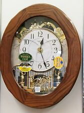 """RHYTHM"" MUSICAL WALL CLOCK -""JOYFUL ESSENCE "" IN  OAK 4MH417WU06 (30 melodies)"