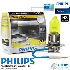 Pair Genuine PHILIPS H3 Weather Vision Halogen Bulb 2900K 12V 55W Car Light Bulb