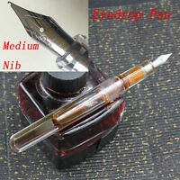 OEM(Unbrand) Transparent Clear Eyedrop Pen With Wing Sung Soft M Wet Nib