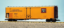 Usa Trains G Scale 50' Mechnanical Reefer R16714 Burlington Route - Yell/BrwnSil