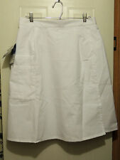 Womens Crest Scrub Skort Skirt Bottoms  Size L NWT Nice White with 4 Pockets