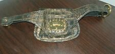 BRACCIALINI CROCO PRINT POUCH POCKET LEATHER BELT PURSE