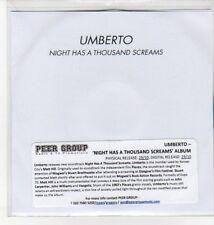 (DN206) Umberto, Night Has A Thousand Screams - 2012 DJ CD