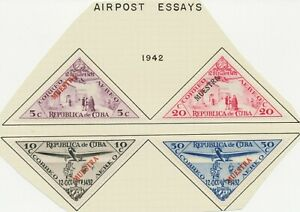 1942 450th Anniversary of the discovery of America 5 C - 50 C 4 different ESSAYS