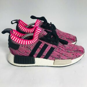 Adidas Womens NMD R1 Primeknit Running Shoes Pink BB2363 Lace Up Low Top 6 M