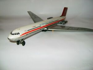 Tin Toy Soviet Jet Airplane IL-62 Intercontinental (DDR VEB Plasticart)