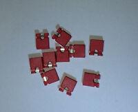 "NEW 100x RED Mini Micro Header 2.54mm 0.1"" Circuit Board Shunts Short Jumper USA"