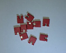 "NEW 50x RED Mini Micro Header 2.54mm 0.1"" Circuit Board Shunts Short Jumper USA"