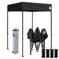 5x5 Flat Ez Pop Up Canopy Commercial Vendor Event Sports Party Shelter Tent