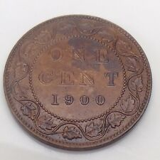 1900 Canada Copper Large One 1 Cent Penny Varnished Coin F502