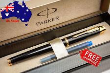 PARKER IM Premium Quality Gloss Black Fountain Pen - Box+Refill