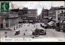 """BORDEAUX (33) TRAMWAY """"PETROLE HAHN"""" & Publicité Ecole PIGIER ,CACAO KORFF 1914"""