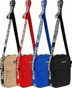 Brand new Supreme shoulder bag SS18 black red blue khaki unisex men and women