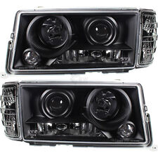Scheinwerfer + Blinker Set Satz Klarglas schwarz Mercedes W201 190E Bj. 82-93