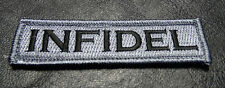 INFIDEL TACTICAL MORALE ACU 3.75 inch MILITARY ACU hook PATCH