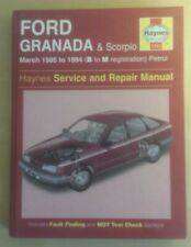 Ford Granada & Scorpio 1985-1994 Petrol *VGC* ~ Haynes Repair Manual #1245