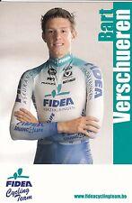CYCLISME carte cycliste BART VERSCHUEREN équipe FIDEA cycling team cyclo cross