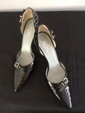 "BCBG Black Patent Leather Stiletto 5"" Heels 9"