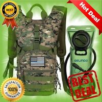 Military Tactical Hydration Backpack with 2L Water Bladder Light Weight MOLLE
