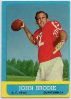 1963 Topps #134 John Brodie VG-VGEX San Francisco 49ers FREE SHIPPING