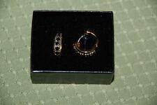 18k Gold over Sterling silver 925 Blue Sapphire earrings. New in Box Technibond