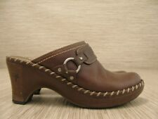 Frye Boots Brown Leather Shoes Women's Size US 9 M Clogs Mules Loafers Slip-On