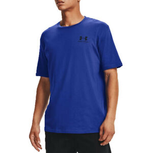Under Armour Mens Sportstyle T Shirt Tee Top Blue Sports Gym Breathable