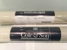 2 Sealed Rolls Of Cole&son Ogee-octave Contempary Wallpaper