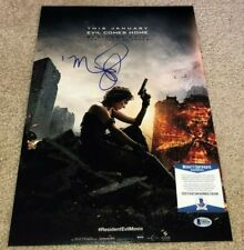 MILLA JOVOVICH SIGNED RESIDENT EVIL FINAL 12X18 MOVIE POSTER PHOTO ALICE BAS A