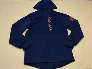 NWT's Adidas NCAA Kansas Jayhawks Game Mode Full-Zip Long Sleeve Jacket Size L🔥