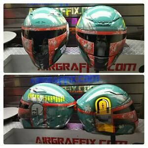 Boba Fett Custom Painted Airbrushed Motorcycle Helmet